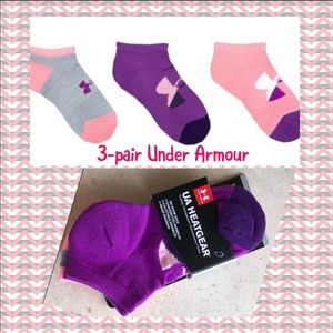Under Armour 3-pair youth no-show socks